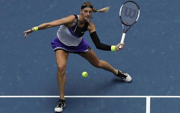 Česká tenistka Petra Kvitová v akci na turnaji v Pekingu.