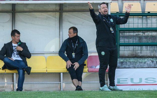 Trenér Příbrami Pavel Horváth během utkání 25. kola Fortuna ligy s Ostravou.