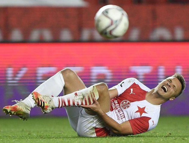 Slavia sice Slovácko podle očekávání porazila, zápas ale favorita bolel, jak je vidno z výrazu ve tváři Stanislava Tecla.