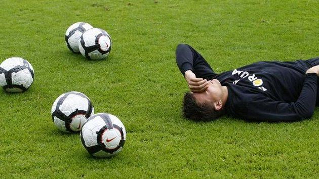Miloš Lačný na soustředění fotbalistů Sparty