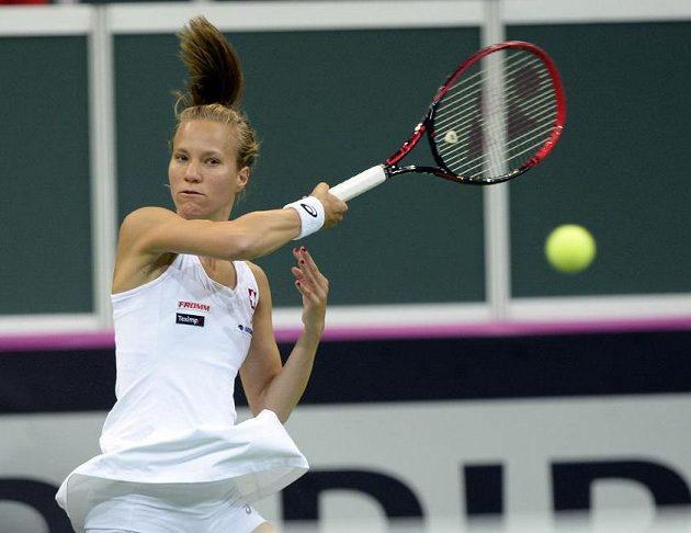 Švýcarská hráčka Viktorija Golubicová.
