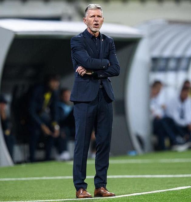 Trenér české reprezentace Jaroslav Šilhavý během přípravného utkání fotbalové reprezentace s Ukrajinou.