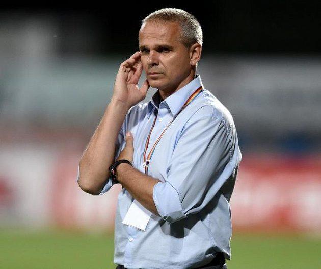 Trenér Sparty Vítězslav Lavička během utkání v Příbrami.