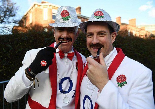 Fanoušci Anglie se dobře naladili...