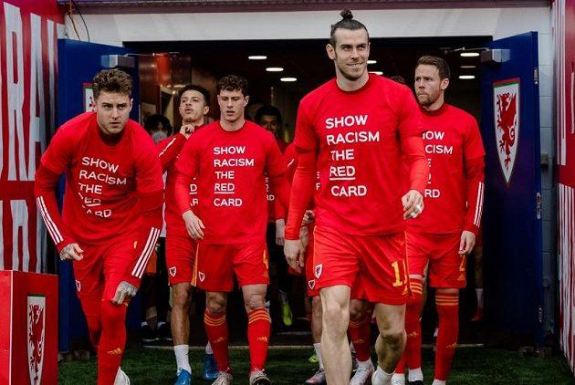 Hráči Walesu se vyjádřili proti rasismu.
