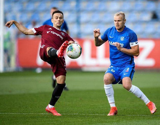 Jakub Pešek ze Sparty Praha a Jan Mikula ze Slovanu Liberec.