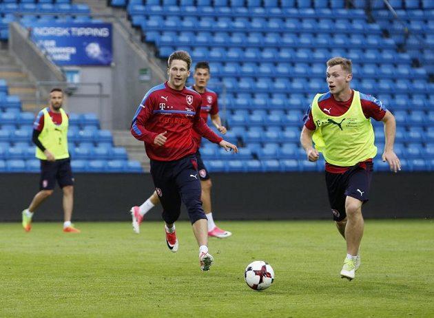 Zleva Milan Škoda a Jakub Brabec na tréninku v Oslu.