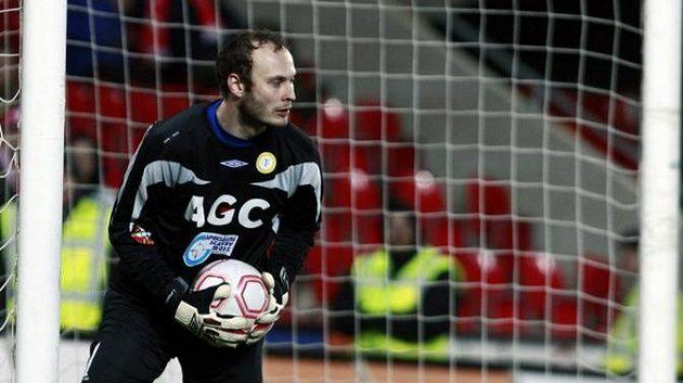 Brankář Teplic Martin Slavík.