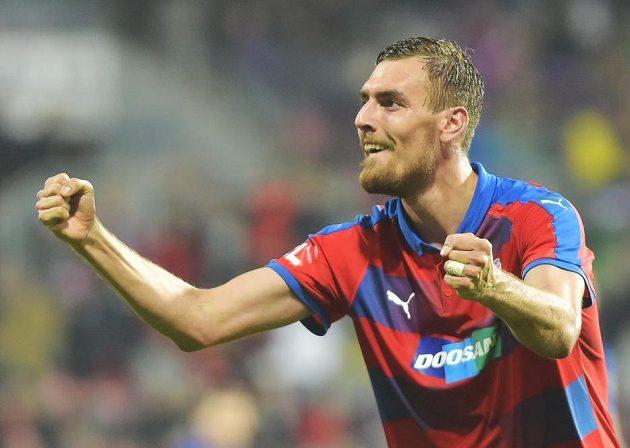 Tomáš Chorý z Plzně se raduje z gólu.