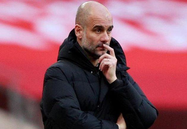 Trenér Manchester City Pep Guardiola.