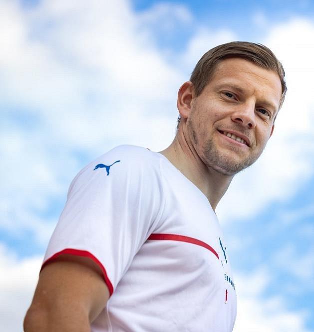 Matěj Vydra v novém dresu reprezentace.