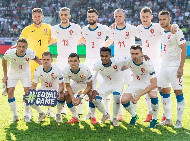 Český tým před zápasem se Slováky