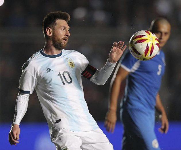 Božský Argentinec Lionel Messi během přátelského duelu s Nikaraguou.