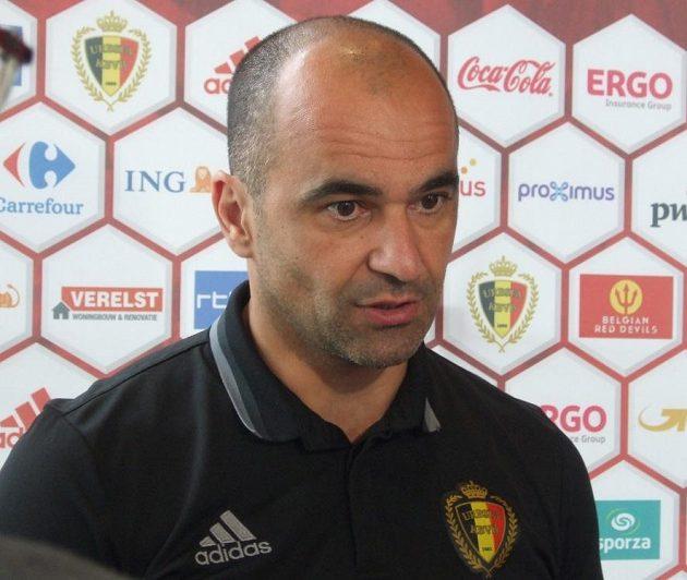 Trenér Belgie Roberto Martínez.