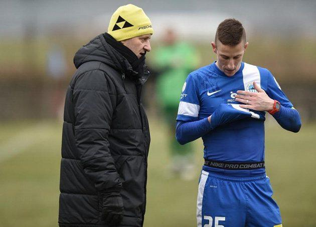 Trenér Slovanu Liberec Josef Csaplár (vlevo) a obránce Jiří Fleišman.