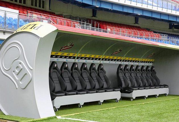 Fotbalová Viktoria Plzeň představila unikátní projekt. Hráčské střídačky v Doosan Areně budou mít tvar plechovky piva.