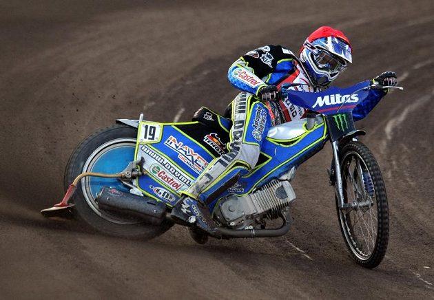 Český závodník Aleš Dryml během Grand Prix v ploché dráze na stadiónu Markéta v Praze.