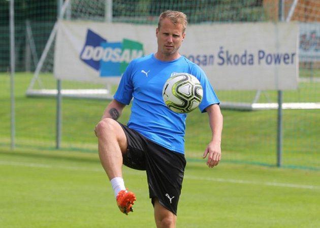 Plzeňský fotbalista David Limberský během letního soustředění.