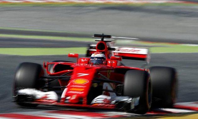 Kimi Räikkönen během rekordní jízdy.