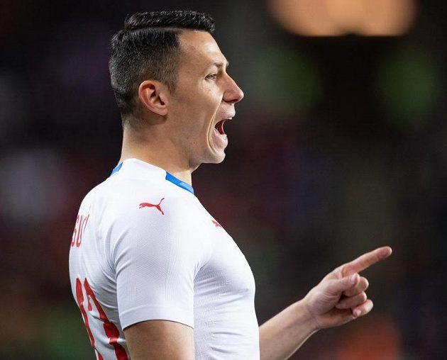 Marek Suchý během přátelského utkání s Brazílií.