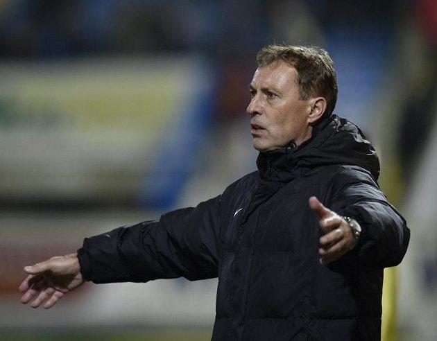 Trenér Jablonce Zdeněk Klucký během derby v Liberci.