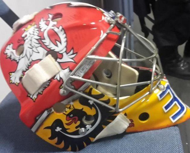 Maska Pavla Francouze pro MS 2016 v hokeji.