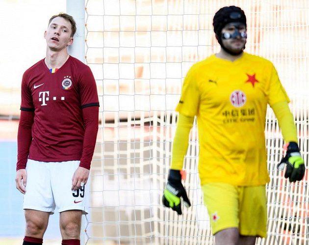 Zklamaný Lukáš Juliš ze Sparty po zahozené šanci během utkání semifinále MOL Cupu se Slavií.
