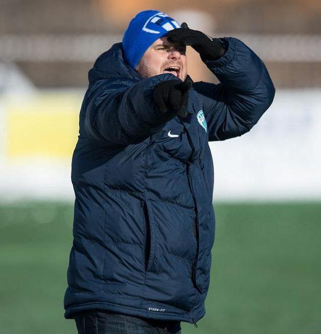 Trenér Táborska Roman Nádvorník během utkání zimní Tipsport ligy s Příbramí.