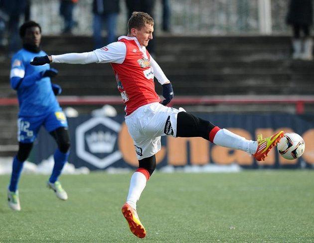 Zimní posila Slavie Praha útočník Tomáš Necid během utkání zimní Tipsport ligy s Libercem.