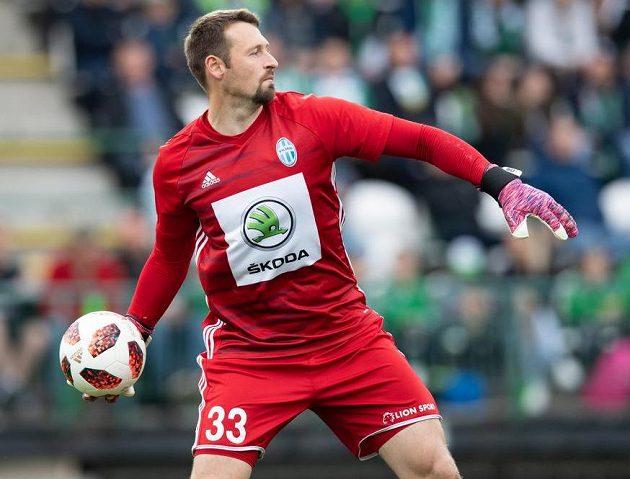 Brankář Mladé Boleslavi Jan Šeda.