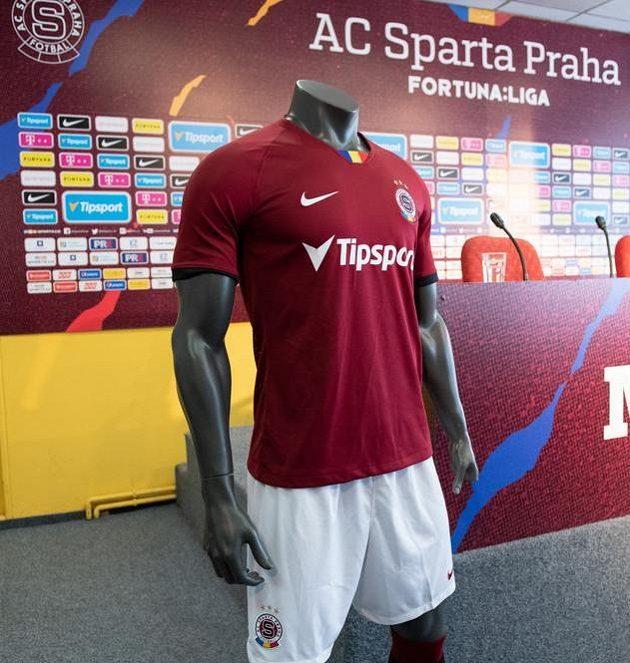 Nový dres Sparty před zahájením sezony 2019/2020.