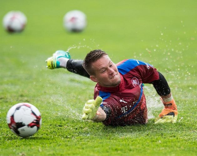 Brankář české fotbalové reprezentace Tomáš Vaclík.