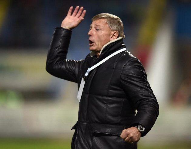 Trenér Sparty Praha Zdeněk Ščasný během utkání v Liberci.