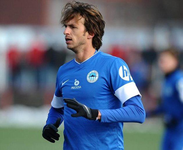 Zimní posila Slovanu Liberec záložník Marek Jarolím během utkání zimní Tipsport ligy se Slavií.