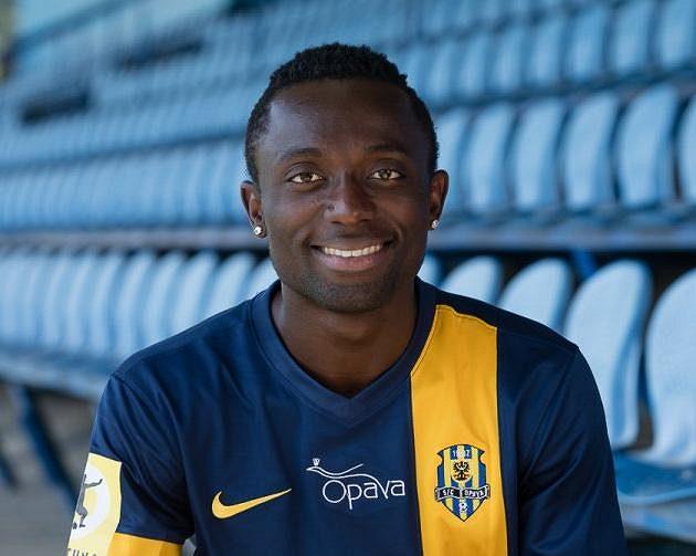 Joel Ngandu Kayamba, záložník Opavy.