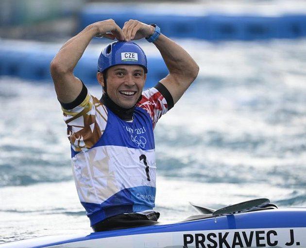 Vítěz vodního slalomu na olympijských hrách v Tokiu Jiří Prskavec.