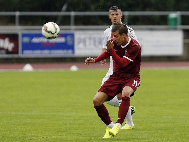 Sparťan Lukáš Mareček během utkání s Basilejí.