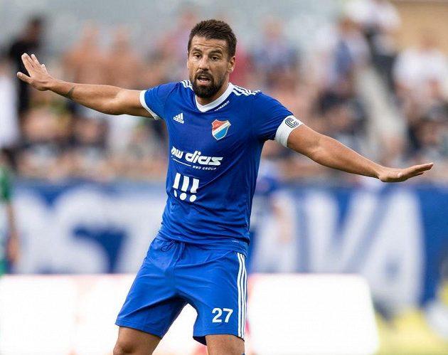 Milan Baroš z Baníku Ostrava během utkání v Ďolíčku.