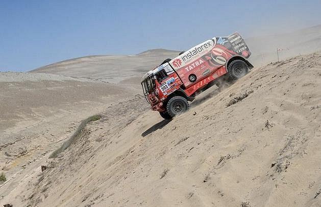 Aleš Loprais na trati Rallye Dakar 2013.