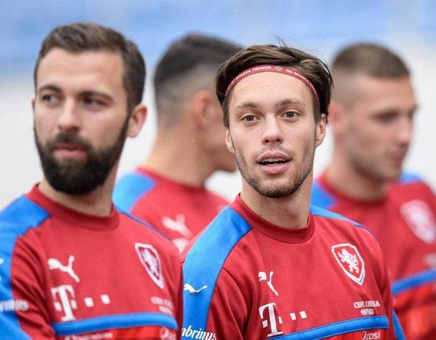 Václav Kadlec (vpravo) při návratu do fotbalové reprezentace.