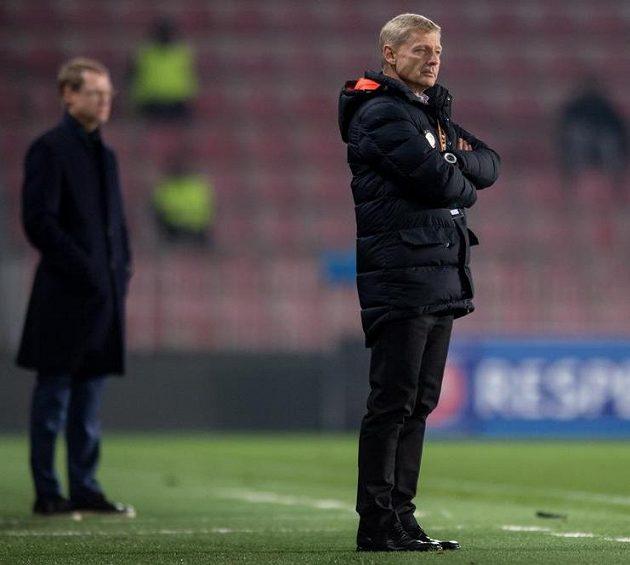 Trenér Sparty Zdeněk Ščasný během utkání s Krasnodarem.