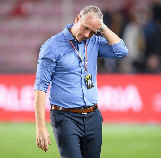Trenér Sparty Praha Václav Jílek po porážce v derby.