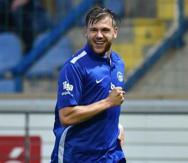 Autor druhého gólu Radim Breite ze Slovanu Liberec.