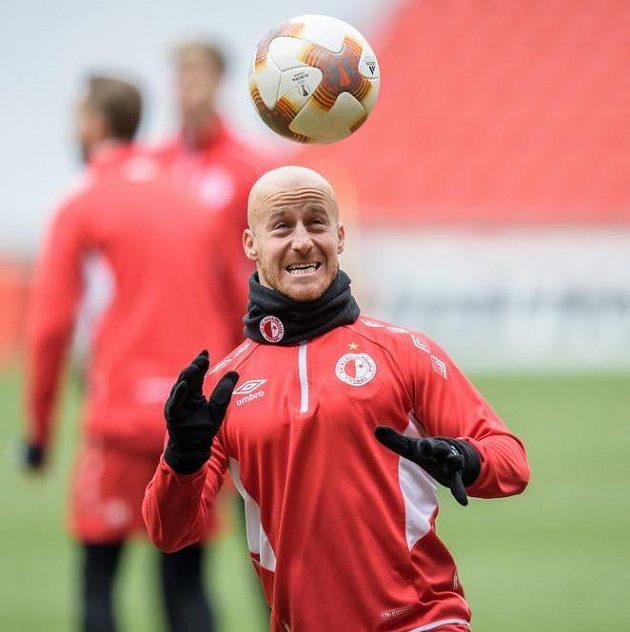 Slávista Miroslav Stoch během tréninku před utkáním Evropské ligy s Astanou.