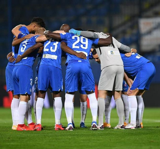 Fotbalisté Slovanu Liberec před zápasem s APOEL Nikósie.