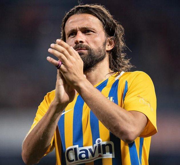 Opavský záložník Pavel Zavadil po utkání na Spartě.