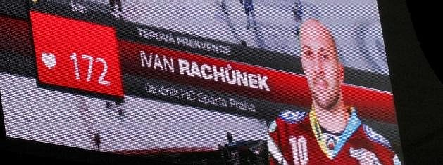 Ivan Rachůnek a jeho tepová frekvence při utkání s Brnem.