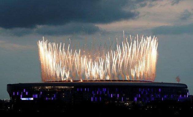 Fotbalový Tottenham vyhrál nad Crystal Palace a nad stadionem zářil ohňostroj.