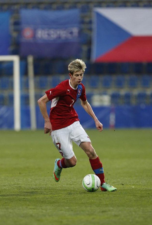Roman Macek v dresu české fotbalové reprezentace do dvaceti let.