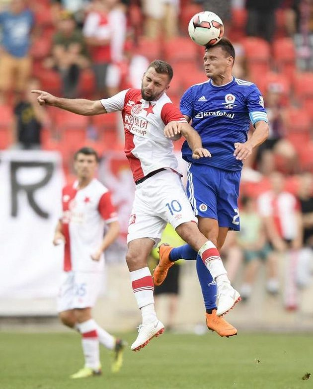 Zleva Josef Hušbauer ze Slavie a Vasil Božikov ze Slovanu.